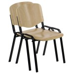 Plywood chair TDC-07, black frame