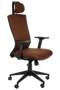 Swivel armchair  - HG-0004F BROWN - synchronous mechanism