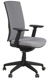 Office armchair with seat slide system, KB-8922B-S/GREY - swivel chair