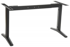 Steel desk and table frame with extensible beam, black colour. STT-01