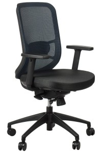 Swivel office chair GN-310/BLUE with seat sliding system