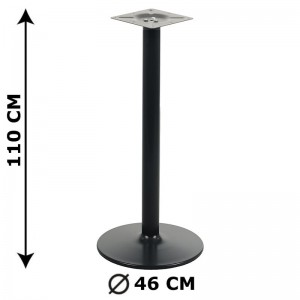Table base NY-B006, height 110 cm, colour: black
