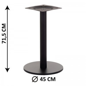 Table base SH-2010-2/H/B, height 109 cm, black, plastic bottom plate weight (table leg)