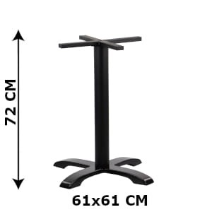 Table base SH-5009-2/B, bottom plate dimensions 61x61 cm (table leg)