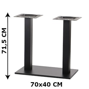 Double table base SH-2012/B, 70x40 cm (table leg)