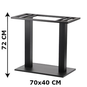 Double table base SH-2012-2/B, 70x40 cm (table leg)