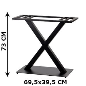 Double table base SH-3007-2/B, bottom plate diamensions 70x40 cm (table leg)