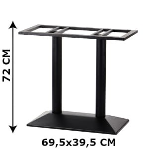 Double table base SH-4001-2/B, bottom plate diamensions 70x40 cm (table leg)