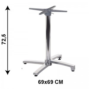 Aluminum table base SH-7012/A (table leg) with folding mounting plate