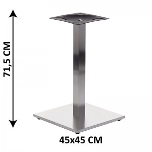 Table base SH-2002-1/S, brushed stainless steel, plastic bottom plate weight (table leg)