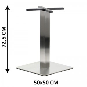Table base SH-3002-6/S, 50x50 cm, brushed stainless steel (table leg)