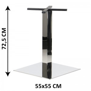 Table base SH-3002-7/P, 55x55 cm, polished stainless steel (table leg)