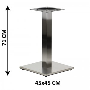 Table base SH-2002-1/S/8, brushed stainless steel, plastic bottom plate weight (table leg)