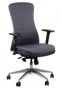 Office armchair  KENTON / GREY / ALUMINIUM BASE - swivel chair