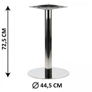 Table base SH-3001-5/P, fi 44,5 cm, polished stainless steel (table leg)