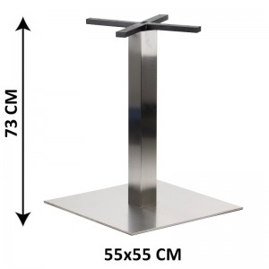 Table base SH-3002-7/S, 55x55 cm, brushed stainless steel (table leg)