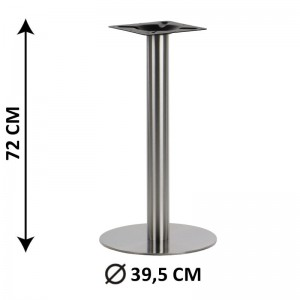 Table base SH-3001-1/S, fi 39,5 cm, brushed stainless steel (table leg)