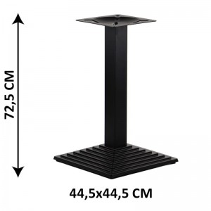 Table base SH-5014-6/B, bottom plate dimensions 44,5x44,5 cm (table leg)