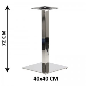 Table base SH-3002-1/60/P, 40x40 cm, polished stainless steel (table leg)
