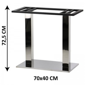 Double table base SH-2003-4/P, 70x40 cm (table leg)