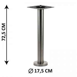 Floor mounted table base SH-3018-1/S, brushed stainless steel