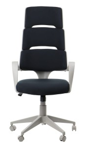 Office armchair LORETTO - upholstery 54 - swivel chair, grey frame