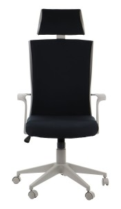 Office armchair CLAYTON - upholstery 54 - swivel chair, grey frame