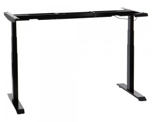 Steel desk frame with electric height adjustment (3-stage), black colour. UT04-3T/B