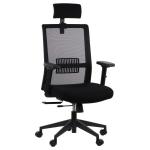 Office armchair RIVERTON - mesh backrest, headrest, different colours