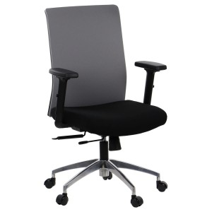 Office chair RIVERTON - fabric backrest, aluminium base, different colours