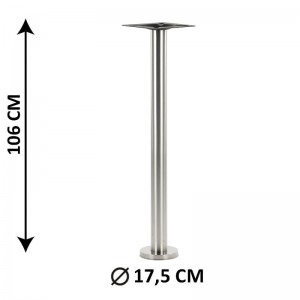 Floor mounted table base SH-3018-1/H/S, brushed stainless steel