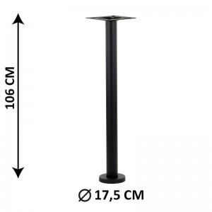 Floor mounted table base SH-3018-2/H/B, colour black
