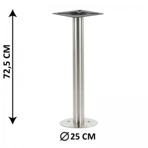 Floor mounted table base SH-3017-2/S, brushed stainless steel
