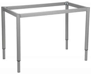 Table frame 116x66 cm, adjustable height, round leg
