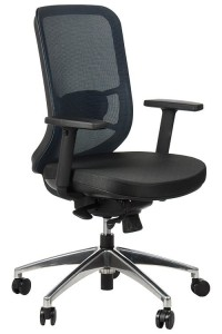 Swivel office chair GN-310/BLUE with seat sliding system and aluminum base