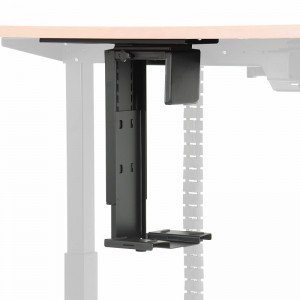 Under desk PC holder - large adjustment range, black colour