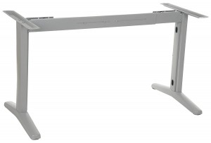 Steel desk and table frame with extensible beam, aluminum colour. STT-01