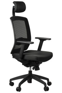 Office armchair  GN-301/BLACK with seat sliding system, swivel chair