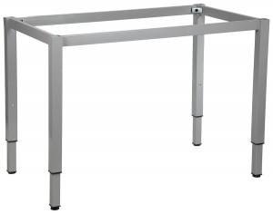 Table frame 116x66 cm, adjustable height, square leg