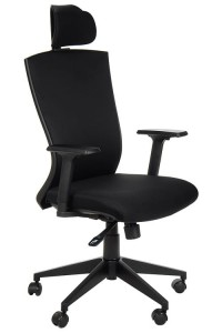 Swivel armchair  - HG-0004F BLACK - synchronous mechanism