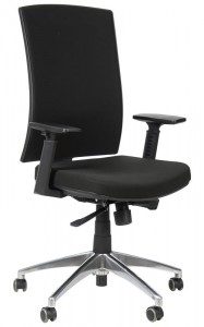 Office armchair with aluminum base, KB-8922B/ALU/BLACK - swivel chair