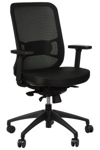 Swivel office chair GN-310/BLACK with seat sliding system