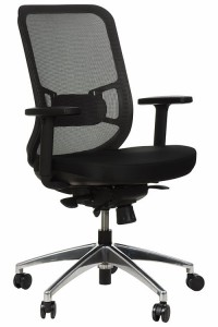 Swivel office chair GN-310/GREY with seat sliding system and aluminum base