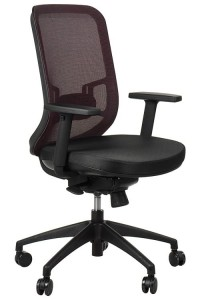 Swivel office chair GN-310/CLARET with seat sliding system