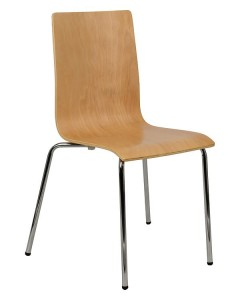 Plywood chair TDC-132 - chrome-plated frame.
