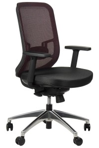 Swivel office chair GN-310/CLARET with seat sliding system and aluminum base