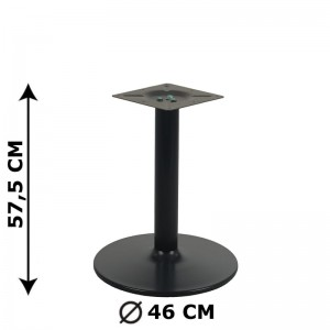 Table base NY-B006, height 57,5 cm, colour: black
