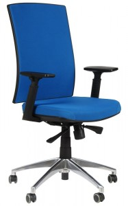 Office armchair with aluminum base, KB-8922B/ALU/BLUE - swivel chair