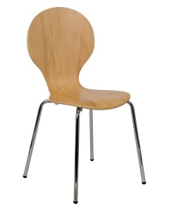 Plywood chair TDC-122 - chrome-plated frame.