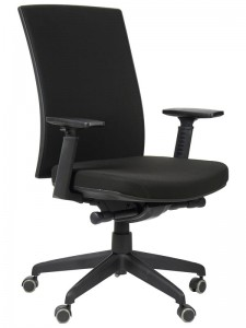 Office armchair with seat slide system, KB-8922B-S/BLACK - swivel chair